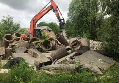 Metāla atdalīšana no būvkonstrukcijām Valmieras ceļu rajona objektos