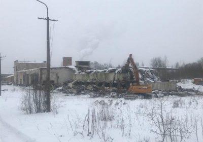 Degradētās teritorijas demontāžas darbi Krāslavā